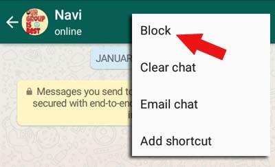 block whatsapp contact