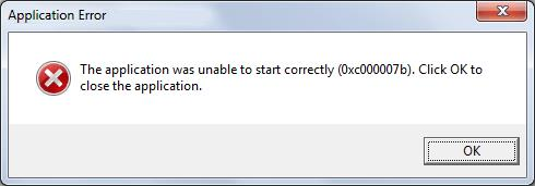 Fix 'The application was unable to start (0xc000007b)'