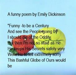 Funny love poem by Emily Dickinson whatsapp profile pic
