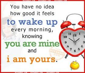 To Wake up, You are mine and Iam yours Clock Smile Whatsapp DP picture