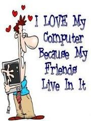 Best Whatsapp Dp for Love Computer because Friends live in it