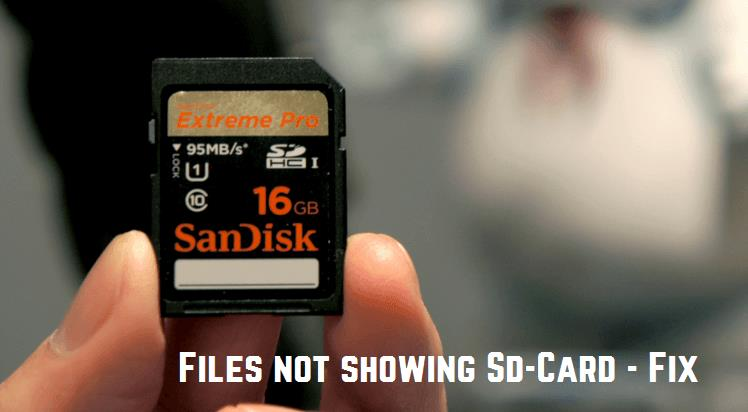 Files not showing in SD Card