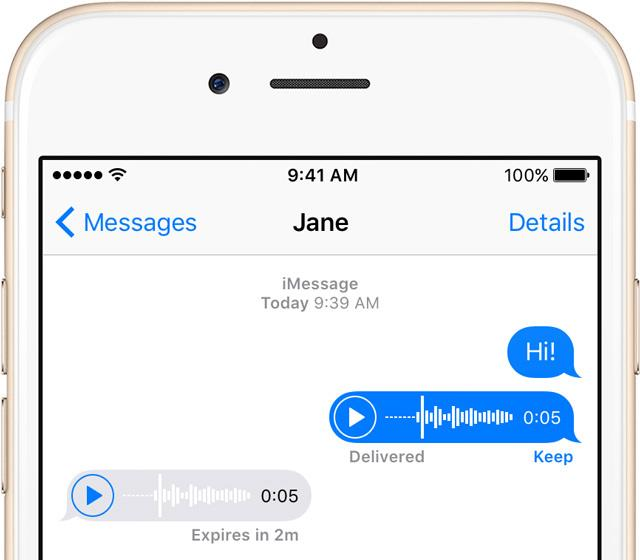 iOS 9 Messages audio iPhone screenshot 001
