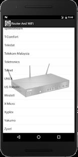 WiFi Router Passwords 2017 Screenshot