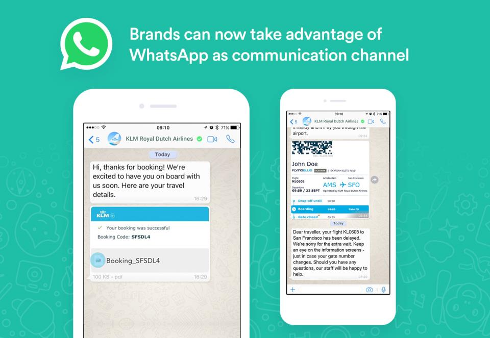 Brands can now take advantage of WhatsApp as a communication channel