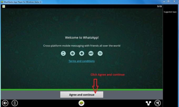 Configuring Whatsapp 1