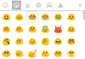 google hangouts hand drawn emoticons