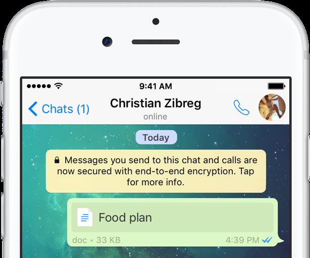 WhatsApp 2.16.2 Office integration iPhone screenshot 001