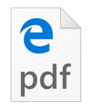 Windows 10 - Edge set as default PDF viewer