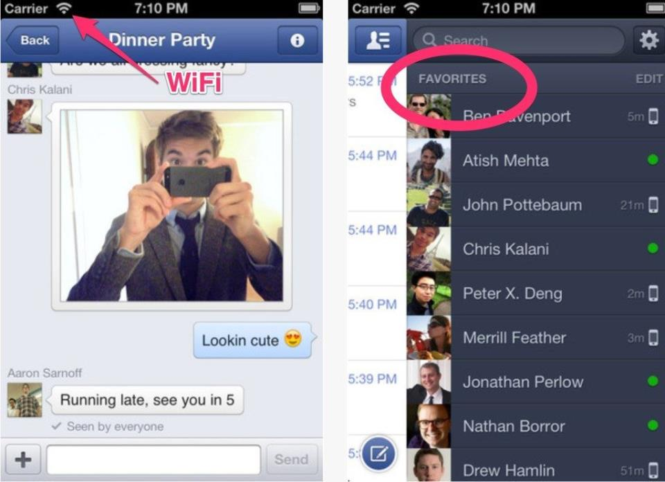 Facebook Messenger for iPhone, iPod, iDevices