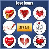 Facebook Love Emoticons