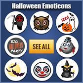 Halloween Facebook Stickers