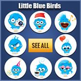 Blue Birds Icons