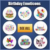 Birthday Emoticons for Facebook