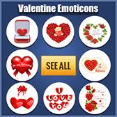 Valentine stickers for Facebook