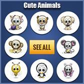 Cute Animals Emoticons for Facebook