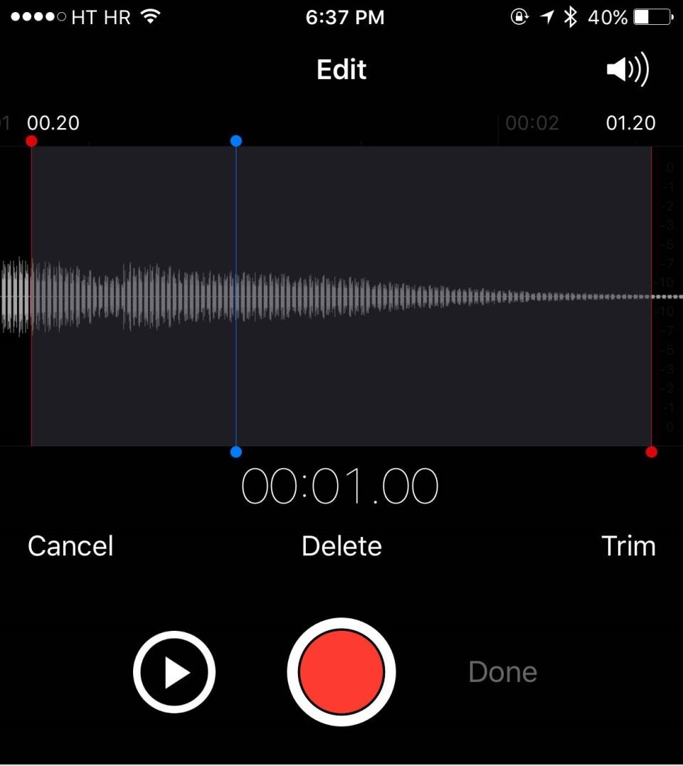 iOS 9 Voice Memos Voicemail iPHone screenshot 002