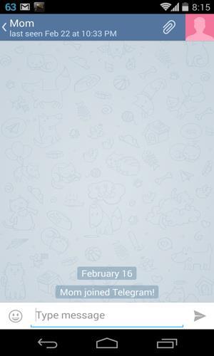 Default background in Telegram