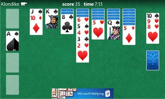 microsoft solitare collection windows phone