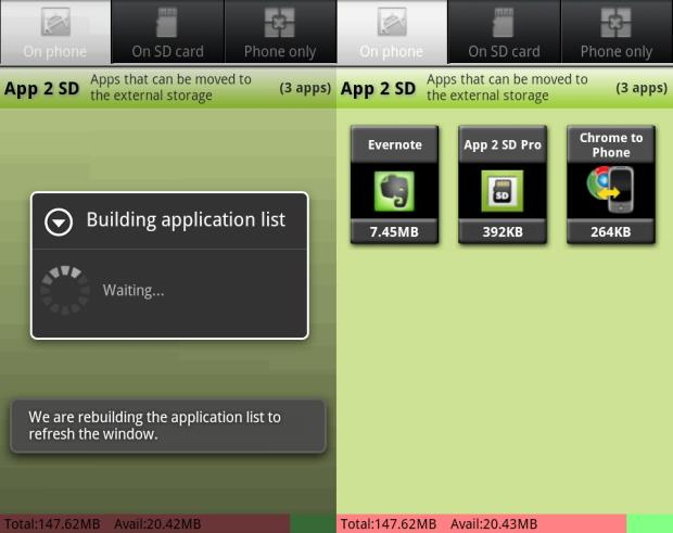 App 2 SD: List