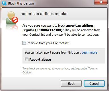 blocking Skype message box