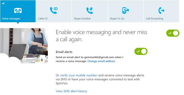 Enable Voice Message