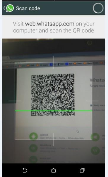whatsapp web QR Code scanning