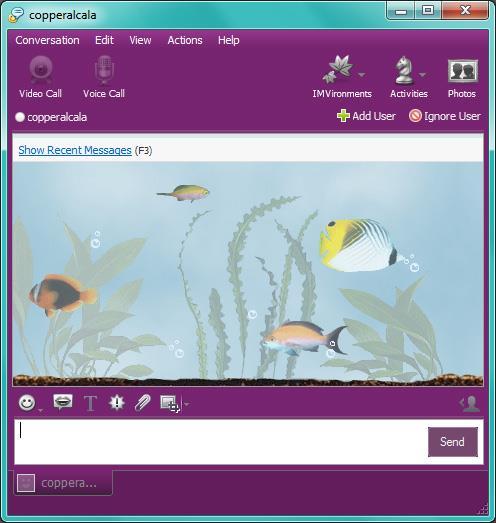 Yahoo Messenger IMVironment