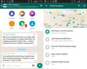 share location on whatsapp