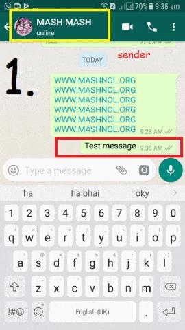 Recall Sent Message in WhatsApp