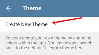 create telegram theme