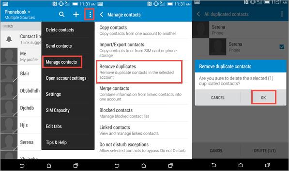Delete Duplicate Contacts on Android with Built-in Feature