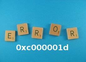 fix error 0xc000001d