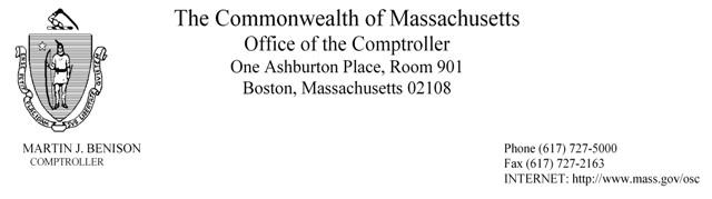 Comptroller Fiscal Year Memo Letter Head
