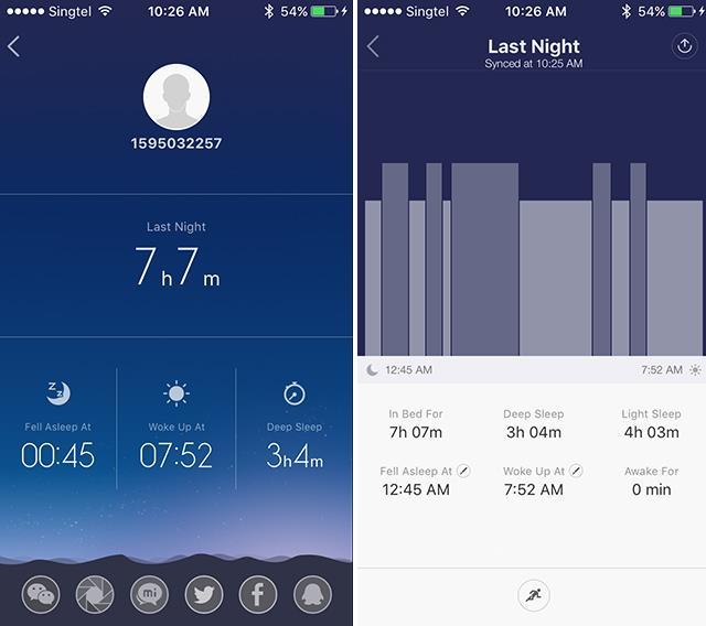 Xiaomi Mi band 1S -sleep-mobile-scree-grab