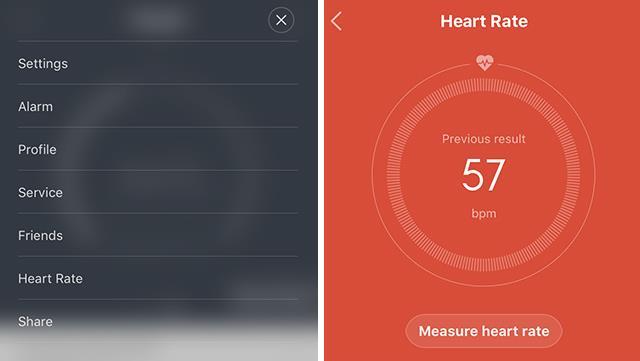 Xiaomi Mi band 1S -measuring-HR