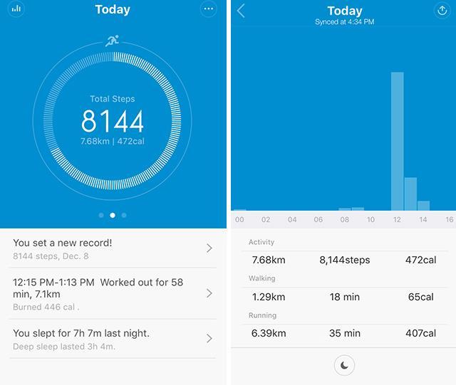 Xiaomi Mi band 1S -activity
