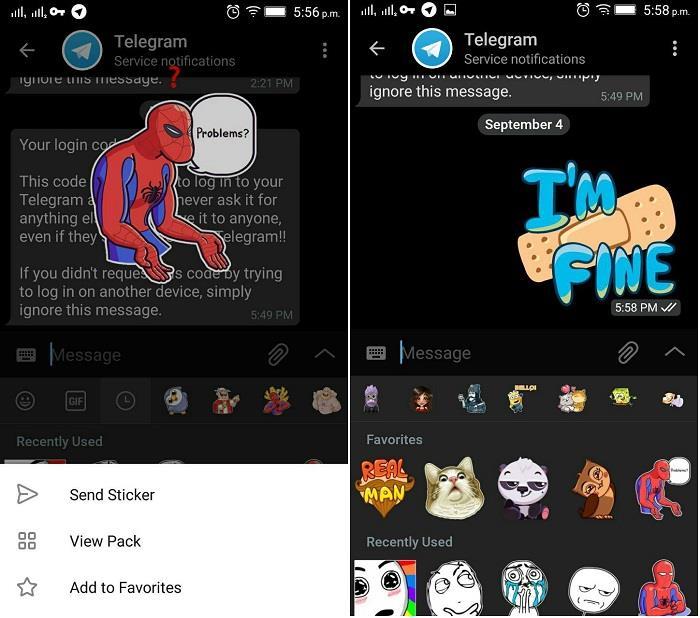 Telegram Favorite Stickers
