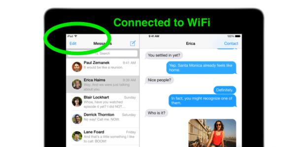 iOS 7 Connected to WiFi
