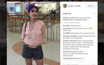 Revi Mariska Pamer Foto Hot Tanpa Bra di Mall