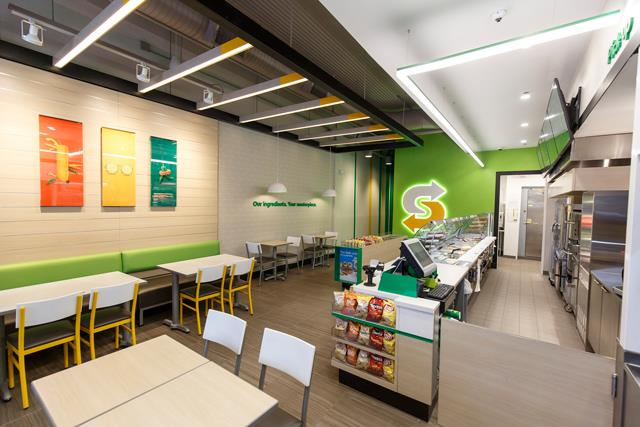Subway new store design