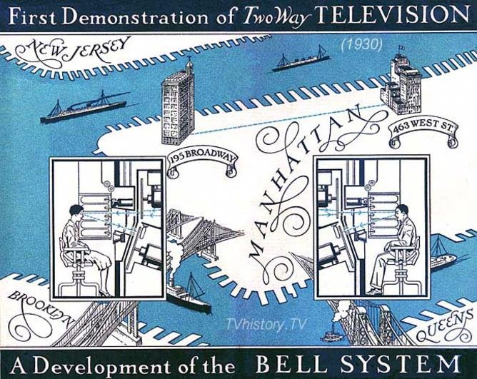 1930 booklet advertising a demonstration of two-way television by Bell Telephone Laboratories (with AT&T)