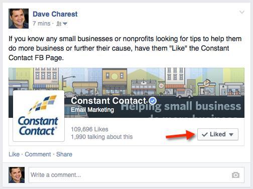 Constant Contact Facebook URL