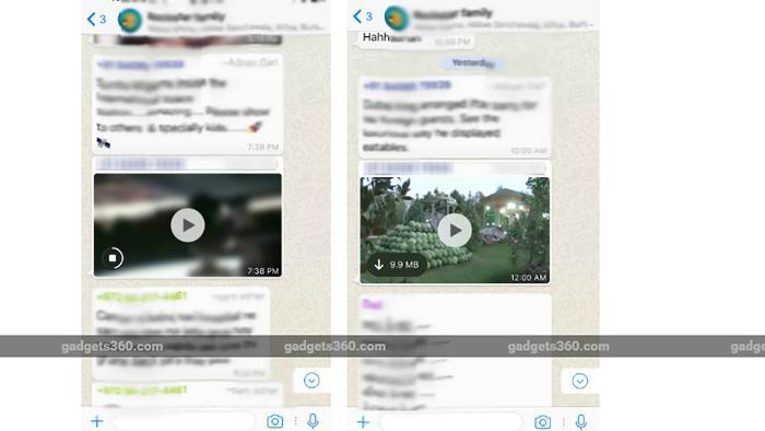 WhatsApp video streaming on iPhone