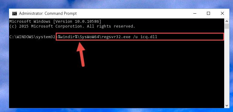 Uninstalling the Icq.dll file's problematic registry from Regedit (for 64 Bit)