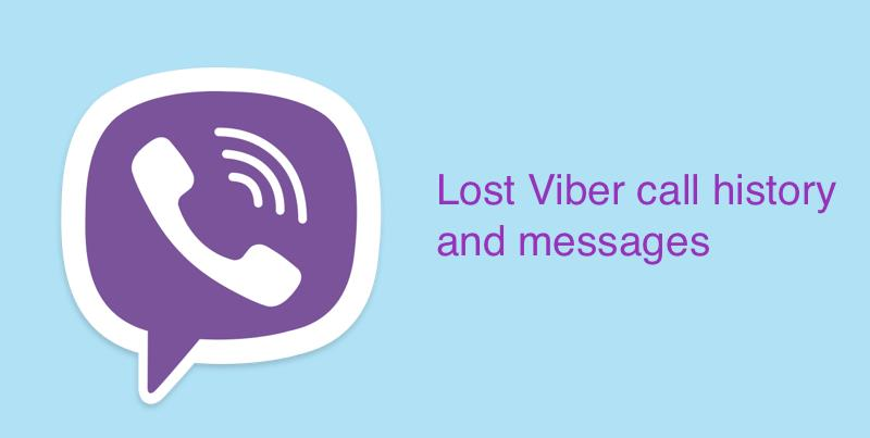 lost viber message and calls