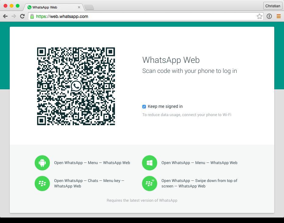 WhatsApp web app screenshot 001
