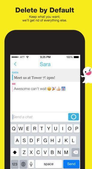 Chat on Snapchat