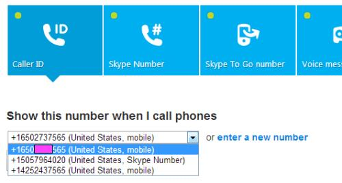 Choose Your Skype Caller ID Number