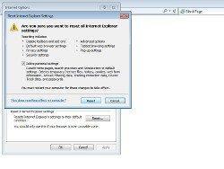 How to reset Internet Explorer settings